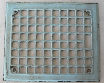 Vintage vent cover, grating, register cover,store display, chippy paint, studio decor from Diz Has Neat Stuff