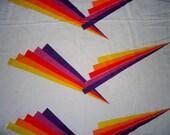 Vintage Cranston Rainbow Pop Art - 100% Cotton Fabric, 3+ Yards