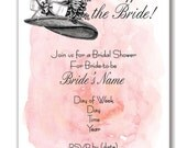 Customizable Hats Off Big Bow Wedding/Bridal Shower Invitation - [Digital File ONLY]