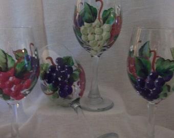 Sunflower Wine Glasses And Wine Glass Caddy