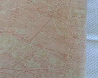 Paris Flea Market by Moda Light tone on tone pink map