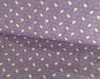 Party of Twelve by Judie Rothermel for Marcus Brothers purple with cream flowers 1 yard