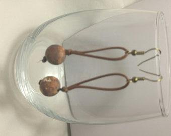 Earrings, Western Jewelry, Brown Western Earrings, Brown Jewlery,Brown Earrings,Dangle Earrings,Chunky Jewelry,Casual Earrings by Cindydidit