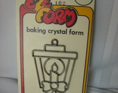 EZE Form Christmas Lantern Candle Baking Crystal Form Aaron Supply NOS 1970's