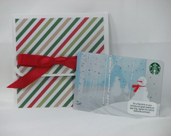 Greens and Reds Merry Christmas Gift Card Holder