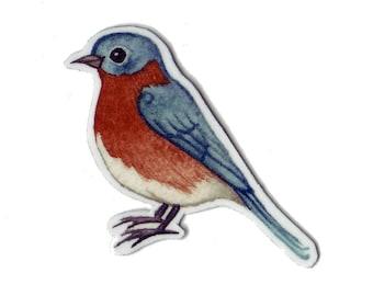 Eastern Bluebird Bird Magnet / Nature Art / Refrigerator Magnet / Office Magnet / Party Favor / Small Gift