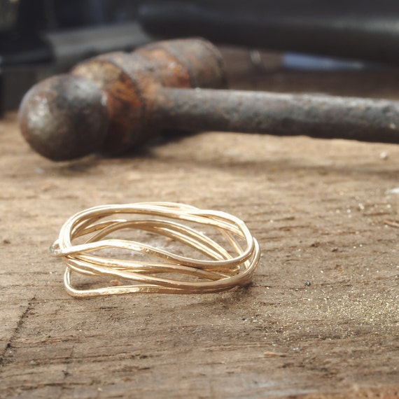 Sea Ring. Gold filled ring. 14k gold ring, delicate everyday ring.