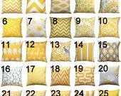 SALE Yellow Decorative Pillow- Premier Prints Corn Yellow Toss Pillow Cover- 16x16 inches- Modernality2- Hidden Zipper Closure- You Choose