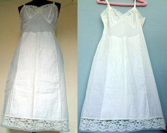 1960s Breezy Nights Slip / Vintage Carol Brent Full Slip / 1960s Slip / Size 34 / Slip w Extra Front Panel Non-See Through