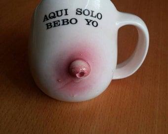 Vintage Novelty Boob Mug