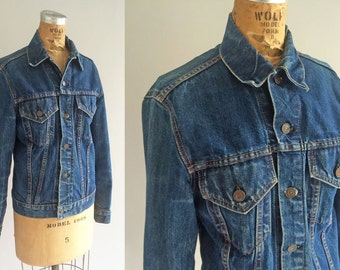 Vintage Levis Big E Denim Denim Jacket Vintage Type III Medium Wash Thunderbird Illustration