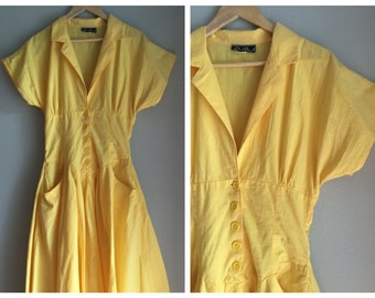 Vintage yellow dress