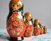 Large  Matryoshka Nesting Dolls - Set of 5