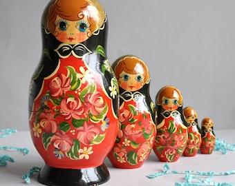 Large  Matryoshka Nesting Dolls - Set of 5
