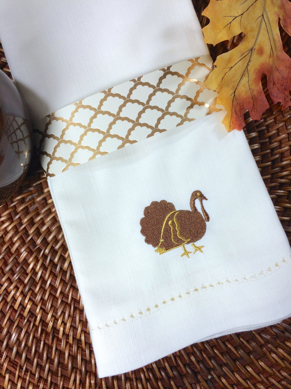 Thanksgiving turkey cloth napkins set of 4 turkey napkins for Turkey napkins