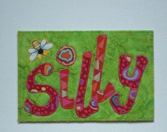 """Be """"Bee"""" Affirmation Kind Happy Postcard Birthday Him Her Friend Mom Child ThankYou Housewarming Frame Gift Hi Room Decor 4x6 fabric quilted"""