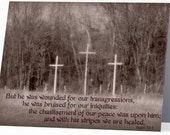 """5.5"""" x 4"""" Any Occasion Card (blank inside) - Isaiah 53:3"""