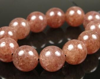 SALE - originally 10.99 - Russian Muscovite Round Beads - 10mm - 12 Pieces - B3639