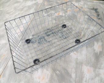 Wire Storage Basket Industrial Storage Basket Toy Basket Towel Basket Carryall Metal Storage Wire Storage Metal Rustic Basket