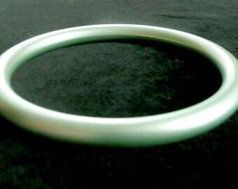 Satin Moonglow Bangle Bracelet Green Lucite Retro Vintage
