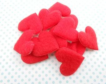 Red Hearts Applique pcs.12