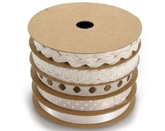 Ribbons Ivory Warm Deco Set of 5