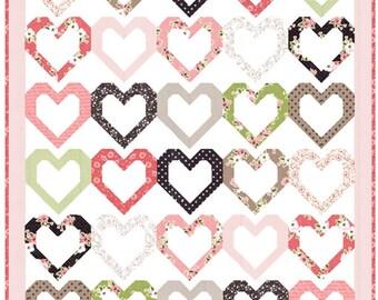 Open heart quilt pattern by  Vanessa Goertzen for Lella Boutique
