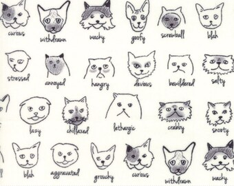 Meow or Never cotton fabric by Erin Michael for Moda fabric 26112 11