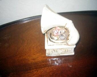 Vintage Gramophone Porcelain or Cermanic Gromophone Knicknack