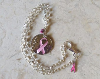 Cancer #Awareness #Hope #Pink #Ribbon #Kunzite #Pendant #Necklace