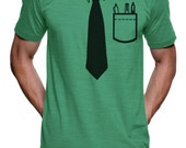 Nerdy Tie T Shirt - American Apparel Tshirt - S M L XL XXL (Color Options)