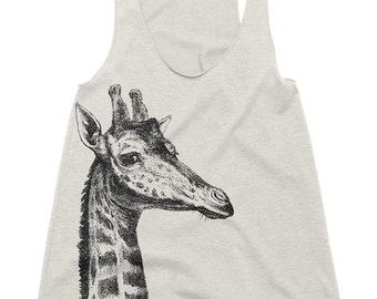 Workout Tank - Giraffe Tank Top Animal Workout Tanks Womens Running Racerback Running Tanks Run Shirt Gym Tank Top Ladies Fitness Tanktop