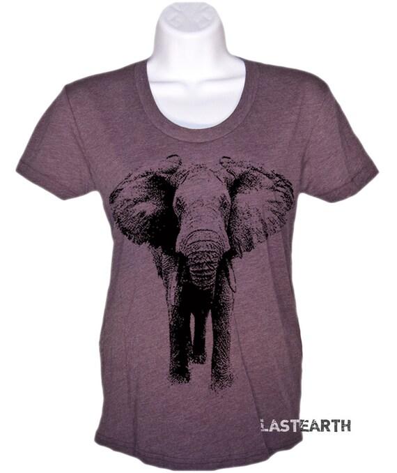 Womens elephant t shirt ladies elephant illustration by for Elephant t shirt women s
