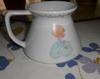 Precious Moments Travel Mug Vintage Coffee Mug I'm Following Jesus