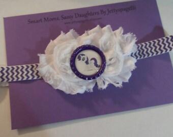 Rarity My Little Pony Shabby Chic Headband- White and purple