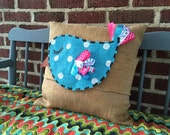 Burlap Pillow Wraps - Bashful Birdie