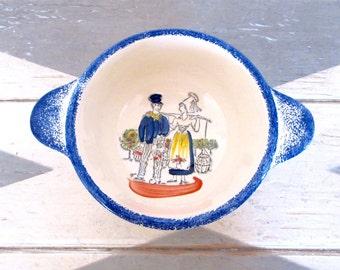 French Bowl - Cafe au Lait - for Kate - Quimper Style Bowl - Etretat - Cafe au Lait Bowl - French Breakfast