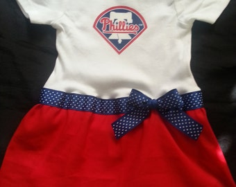 Philadelphia Phillies inspired babygirl outfit