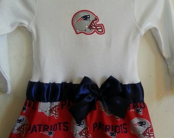 New England Patriots inspired baby girl outfit