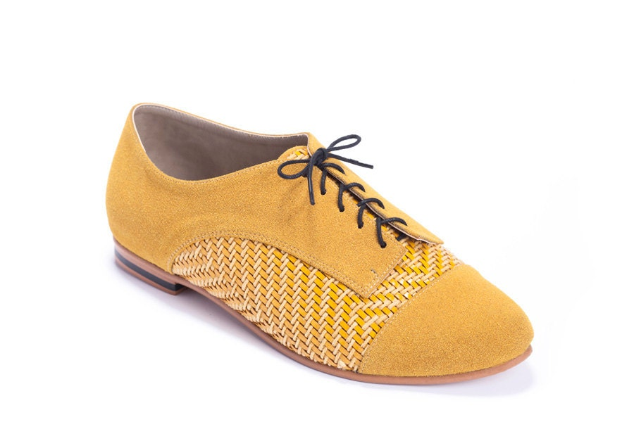 Mustard Colored Flat Shoes