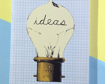 SALE A5 Notebook Ideas Bulb Graph Paper Blank Eco Friendly