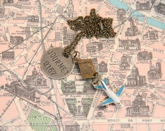 A Life Well Traveled Charm Necklace