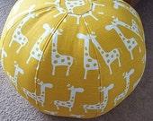 Lovely,Yellow and White Giraffe Floor Pouf