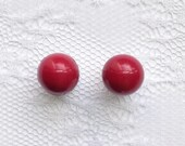 Red Vintage Style Plugs Gauges Size: 0g (8mm)