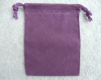 Purple Velvet Pouch 3X4 Inch Set of 6 Purple Velvet Bag Velour Bag Velveteen Pouch Velour Pouch Purple Bag Crystal Pouch Sack (Pouch1Purple)