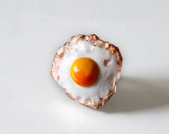 Fried Egg Ring - Sunny Side Up Egg Ring - Food Ring - Breakfast Ring - Kawaii Ring - Miniature Food Jewelry