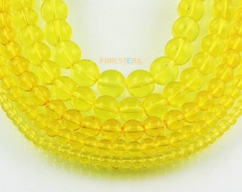 10mm Yellow Glass Bead Clear Glass Bead for Jewelry (BEAD-A11-10)