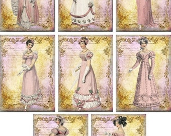 ON SALE Jane Austen Regencypink  stationery with 8 ivory envelopes