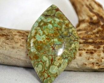 green variscite cabochon.  designer cut. 22.5 x 36.3 x 7