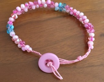 Make it Pink:  Aurora Sleeping Beauty Inspired Beaded Bracelet